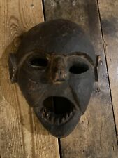 More details for wooden vampire gothic monster mask tribal? antique