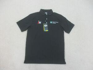 NEW Callaway Polo Shirt Adult Small Black Green Lightweight Golfing Golf Men B01