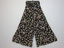935a2e9ae8d2 Nasty Gal Women s Floral Print Wide Leg Pants Small Black NWT