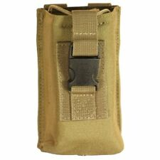 Bulle Tan MOLLE Webbing Tactical Radio Pouch Open Top Buckled