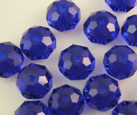 94PC lake blue AB Crystal Faceted Gems Loose Beads 4*6mm DIY jewelry