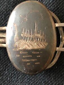 Vintage ship tie clip