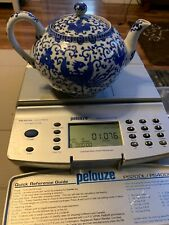 Asian TeaPot W/infuser Blue and White Phoenix Design