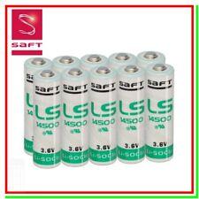 10 SAFT LS 14500 Batterie Pile 3,6V Li-SoCl2 STILO AA 2600mAh Allarmi Wireless