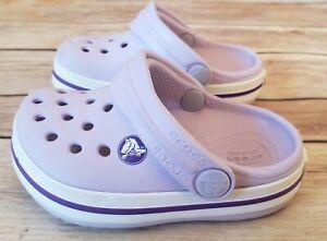 Little Kids' Girls Croc Littles Size 4 Light Purple GUC