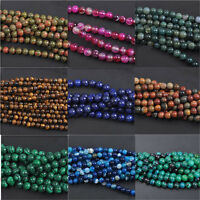 Fashion Jade Natural Gemstone Stone Loose Spacer Beads 4/6/8/10mm Charm Findings