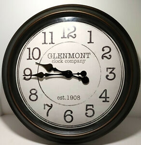 Oversized 18 Inch Glenmont Wall Clock - Oil Rubbed Bronze Est. 1908
