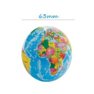 Foam Mini World Map Earth Globe Stress Bouncy Ball Geography Toy