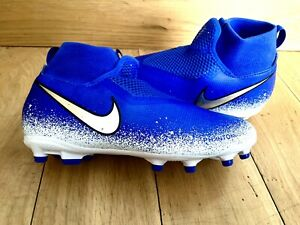 Boys Nike Uk Size 4 Football Boots Jnr Phantom VGN Academy Blue White Chrome