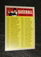 1970 Topps #542 Unmarked Checklist - Excellent Condition