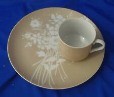 Fitz & Floyd snack set silhouette bouquet plate & cup
