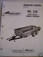 Original New Idea Oper / Parts Manual-Pto Manure Spread