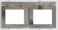 Barn Wood Picture Frame Photo Collage for (2) 8 X 10s (Choose Your Color!)