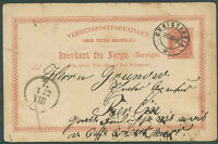 NORWAY TO GERMANY Postal Stationery 1896