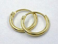585 ECHT GOLD *** Creolen Ohrringe  11 mm