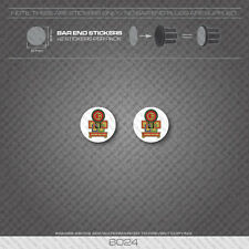 6024 - Claud Butler Bicycle Handlebar Bar End Plug Stickers - Decals