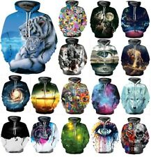 3D Graphic Print Couples Men Women Pullover Top Hoodie Jacket Sweater Sweatshirt