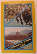 "1981 ""Colorado U. Football Media Guide"", 169 pages, Chuck Fairbanks, Head Coach"