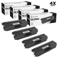 LD Compatible Brother TN436 / TN436BK Super High Yield Black Toner 4PK