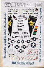 Open Envelope Microscale CAW 7, F-4J VF-33, F9F-2, A-7E CAG Decals 1/72