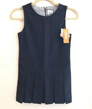 Gymboree Girls 8 Uniform Shop Navy Blue Jumper Dress New