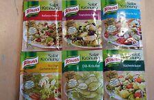 KNORR Herb condimento per insalata mix ** DEGUSTAZIONE Pack ** 6 assortiti Bustine GRATIS UK!
