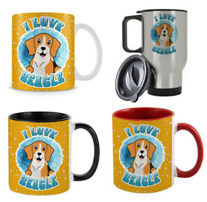 I Love Beagle Cute Dog Lover Animal Lover themed 11/15/14 oz Coffee Mug/Cup.
