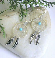 HORSE & WESTERN JEWELLERY JEWELRY 925 STERLING SILVER DREAM CATCHER EARRINGS