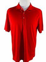 Nike Golf Polo Shirt Dri-Fit Tour Performance Mens Sz L Tiger Woods Red EUC