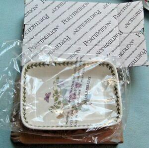 "portmeirion lasagna dish new fushia butterflies  9"" x 7"" botanic gardens"