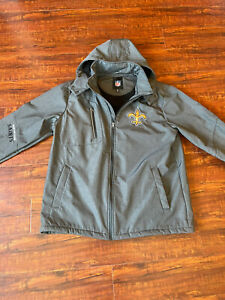 NFL New Orleans Saints Jacket Full Zip Hoodie Size Large