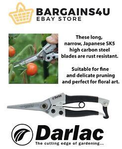 Darlac DP42 Compact Garden Cutting Topiary Plant SNIPS / PRUNERS / SECATEURS