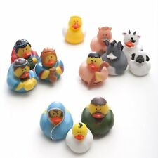 Fun Express Christmas Nativity Scene Rubber Duckie Ducky Duck Toy 12 Piece