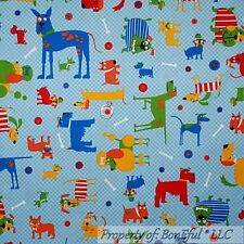 BonEful Fabric Cotton Quilt Blue Red White Gingham Dog Breed Bone Toy Food SCRAP