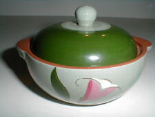 Stangl PINK LILY Tab Handled Individual Casserole w Lid