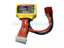 Twins 6S Dual 3S LiPo Battery Charging Adapter: Two Packs on Single Port Charger