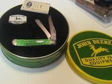 John Deere Case 2 Blade Stockman type pocket knife, .  NIB in John Deere Tin