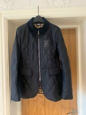 Burberry Quilted Monogram Riding Jacket. Navy, M/L. NEW. Gorgeous!! RRP £540