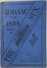 Baltimore Sun Maryland Almanac 1894
