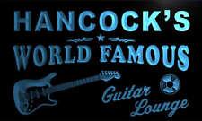 pf1546-b Hancock's Guitar Lounge Beer Bar Pub Room Neon Light Sign