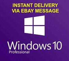 Microsoft Windows 10 Professional Pro 32   64 Bit Genuine Activation Key License