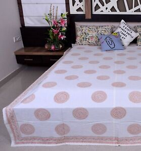 Bohemian Hand Block Indian Kantha Quilt Cotton Bed Cover Blanket Throw Bedspread