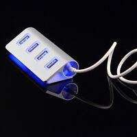 USB 2.0 Hub 4-Port Verteiler LED Beleuchtung und Kabel for PC & Computer Laptop,