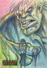 DC Comics Super-Villains Sketch Card by Mark Finneral of Solomon Grundy