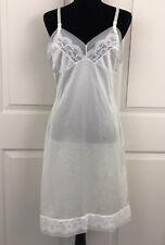 New listing Womens Size 36 White 100% Antron Nylon Slip