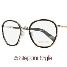 Tom Ford Square Eyeglasses TF5339 063 Size: 51mm Black Horn/Gold 5339
