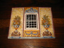 PORTUGAL HOUSES COLLECTION FRONT WINDOW GARDEN DECOR TILE POTTERY CARBOILA
