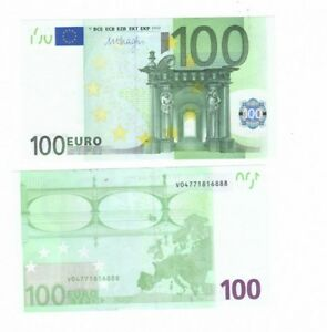 € 100 EURO REAL CURRENCY FOR YOU TRAVEL TO EUROPE