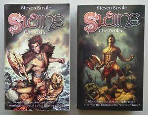 Slaine: The Exile/Defiler Paperback Books 2000AD Steven Savile VF (phil-comics)