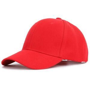 Plain Solid Baseball Cap Strap Back Adjustable Blank Hat Polo Style Visor Caps
